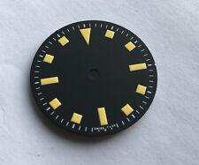 Snowflake Snow Flake Watch Dial for Seiko 7S26 NH35 Vintage Yellow 28.5mm