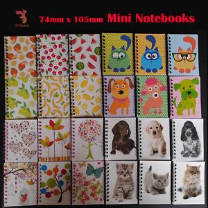 Mini Notebooks Note A7 Notepads Pocket Book Kids School Cartoon Cat Dog Puppies