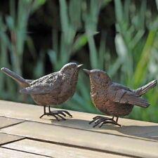 4er Gartendeko Vogel Spatz braun aus Kunstharz Höhe 6cm Gartenfigur Deko Vogel