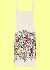 New Floral Print Peplum Detail Jacquard Dress Size 16 BNWT
