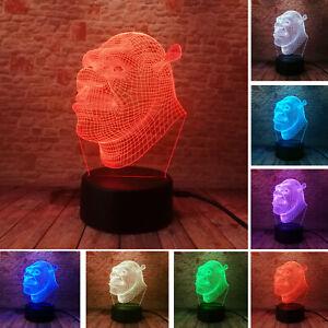 Shrek 3D Night Light | Neon Shrek Lamp