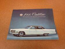 1966 Cadillac Deville Fleetwood Eldorado Calais sales brochure dealer literature