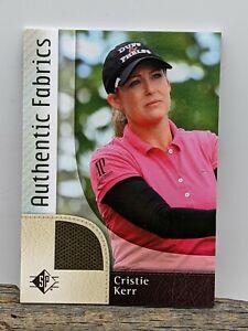 2013 SP Golf Authentic Fabrics Retail Cristie Kerr #AF-CK