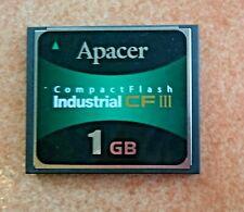 Apacer 1GB CompactFlash Industrial CF III, AP-CF001GE3ER-NRJ,P/N 81.2E010.1C12C