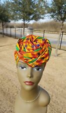 Kente Multicolor Headwrap;African Headwrap; African Clothing; African Fabric
