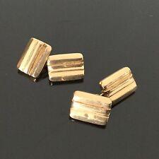 Paire de Boutons De Manchette en Plaqué Or Vintage Cufflinks Gold Plated