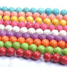 Wholesale 6/8/10/12MM Round Turquoise Gemstone Spacer Loose Beads Charms Jewelry