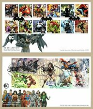 More details for 2021 dc comics batman set or justice league ms fdc first day covers (choice)