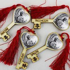 DLM25311 Chiave Portafortuna in Legno per Comunione Rosso (kit 12 pezzi) bomboni