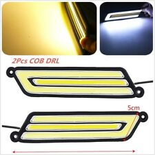 12V 2PC COB Flexible U-Style  LED Day Light Daytime Running 2 Color Amber/White