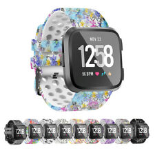 For Fitbit Versa 1 2/Lite/SE!Printed L/S Replacement Silicone Strap Wrist Band
