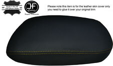 YELLOW STITCHING ARMREST LID LEATHER COVER FITS FORD FAIRMONT AU 1998-2002