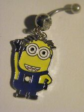 Despicable Me Minion George / Jorge Belly Ring Navel Ring 14 G SS