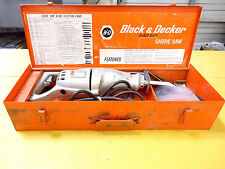 Vintage Black & Decker No. 3102 2-Speed Heavy Duty Saber Reciprocating Saw, Used