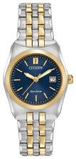 Citizen Eco-Drive Women's EW2294-53L Blue Dial Two-Tone Bracelet 28mm Watch