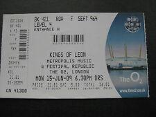 KINGS OF LEON  O2 LONDON  15/06/2009  TICKET UNUSED