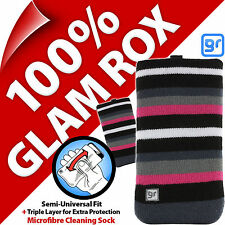 Glam Rox Triple Layer Microfibre Cleaning Mobile Phone Mp3 Sock Case Pouch Cover Huawei U8650 Sonic U8850 Vision