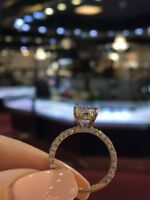 2Ct Round Cut Sparkle Moissanite Solitaire Engagement Ring 14K Rose Gold Finish