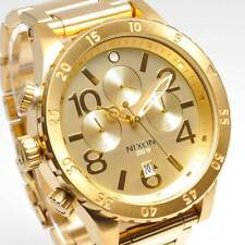 New NIXON Watch Mens 48-20 CHRONO All GOLD A486-502 A486502