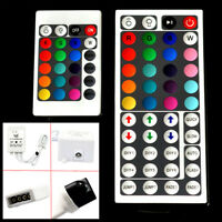 24 & 44 Key IR Remote Controller Box AC/DC 12V 6A For RGB 5050/3528 LED Light