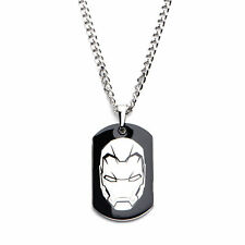 Marvel Captain America Civil War Iron Man Dog Tag Stainless Steel Necklace
