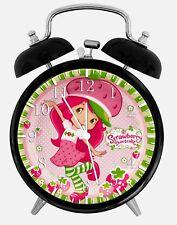 "Strawberry Shortcake Alarm Desk Clock 3.75"" Home or Office Decor W364 Nice Gift"