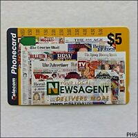 Telecom Newsagents A944012 628 $5 Phonecard (PH6)