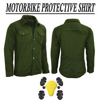 Motorcycle Shirt Motorbike Check Shirt Lumberjack Reinforced CE Armor Protection