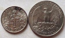 USA 1 Dime (2001) & Quarter Dollar (1997)