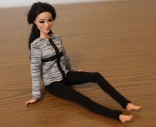 Clothes for Barbie Doll. Gray Blouse and Leggings for Dolls.