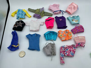 BARBIE DOLL LOT FASHION FEVER + More CLOTHING DRESS TOPS SHIRTS BLOUSE