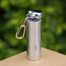 Stainless Steel Round Pocket Cigarette Ashtray With Key chain Portable Gift
