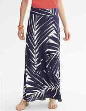 NWT Banana Republic Palm Print SILK Patio Skirt -Fall navy Size 4