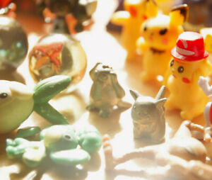 81 Piece Mini Figure Miniature Pokemon Toys Marbles Metal Lot Pikachu