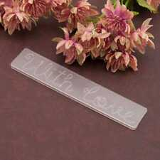 With Love Embossing Folders Plastic Template Die Cutting Scrapbooking Card Decor