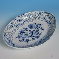 Meissen China - Blue Onion - Reticulated Serving Bowl - 10½ by 7¾ inches