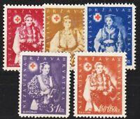 KROATIEN CROATIA [1942] MiNr 0086-89 ( oG/no gum ) Rotes Kreuz