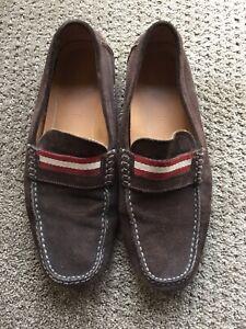 BALLY mens Wabler Car Shoes Loafers Suede 10EU 11US