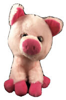 The Toy Factory Soft Plush Pudgie Pink Pig Farm Stuffed Animal  Retired Toy