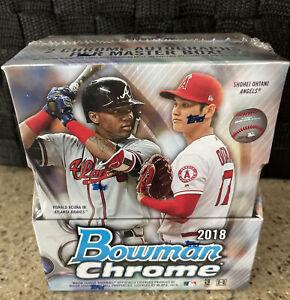 2018 Bowman Chrome Baseball Factory Sealed Hobby Box - Acuna, Yordan Autos