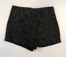Pins and Needles High Waisted Size 4 Gray Floral Print Shorts