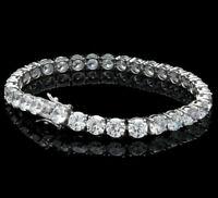 "6.00 TCW Round Cut Diamond 8"" Tennis Perfect Bracelet 925 Sterling Silver 4 mm"