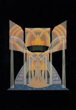 ORIGINALE VINTAGE Erte Art Deco stampa 1936 BAL TABARIN DESTINS