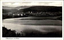 OKERTAL alte AK Talsperre Altenau Schulenberg Brücke Fernansicht um 1930/40