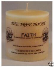"""3 biologique HUILE DE PALME Bougie, """" Faith """" parfumé, 5cm x 5cm 12 heures"""