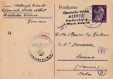 FRANCHIGIA POSTKARTE WIESBADEN BIEBRICK HITLER REICH 2-97