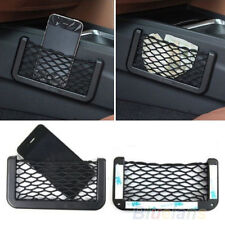 Universal Car Seat Side Back Storage Net Bag Phone Holder Pocket Organizer BC4U