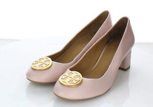 01-56  NEW $248 Women's Sz 8 M Tory Burch Benton Block Heel Pump In Pink