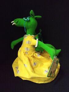 "HTF The Library Dragon Flip Doll Stuffed 12"" Toy Carmen Deedy With Tag"