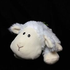 """Gund Hoppy Days Jakey White Lamb Sheep Plush Soft Toy Green Ribbon 320511 9"""""""